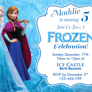 5r Frozen Birthday Invitation (front)