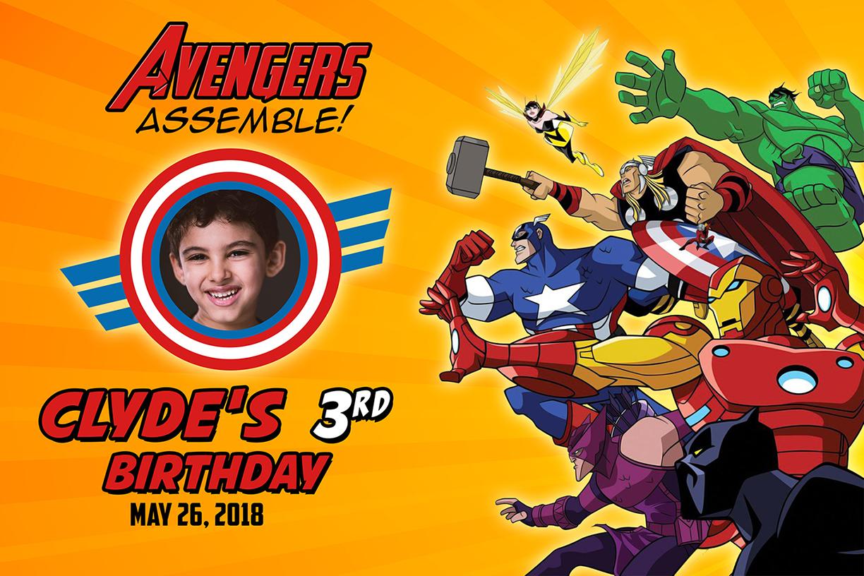 Free Avengers Birthday Tarp Dioskouri Designs
