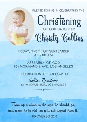 5r Free Christening / Dedication Invitation Dioskouri