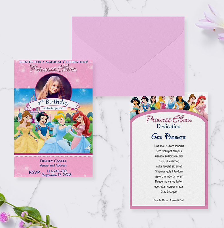 4r Free Disney Princess Invitation Dioskouri Designs