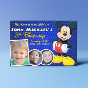 Free 4r invitation Mickey Mouse Preview