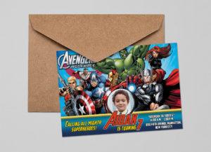 Free Avengers Birthday Invitation Sample Preview