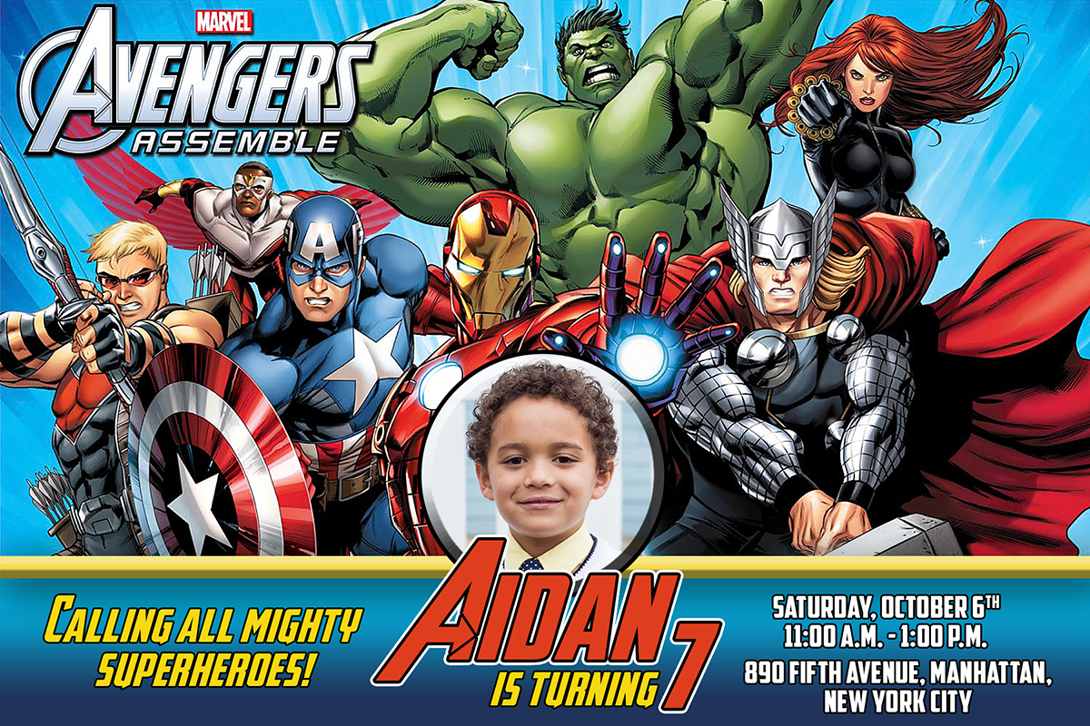 Free Avengers Birthday Invitation