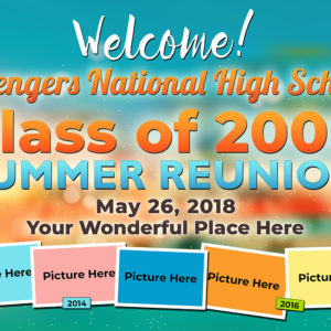Free High School Batch, Class Reunion Tarp
