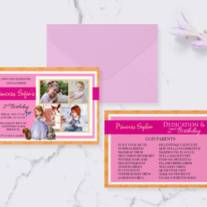 Free Princess Sofia 4r Invitation Preview