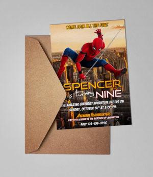 Free Spider-Man Birthday Invitation Samlpe Preview 1