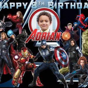 Free Avengers Birthday Tarp