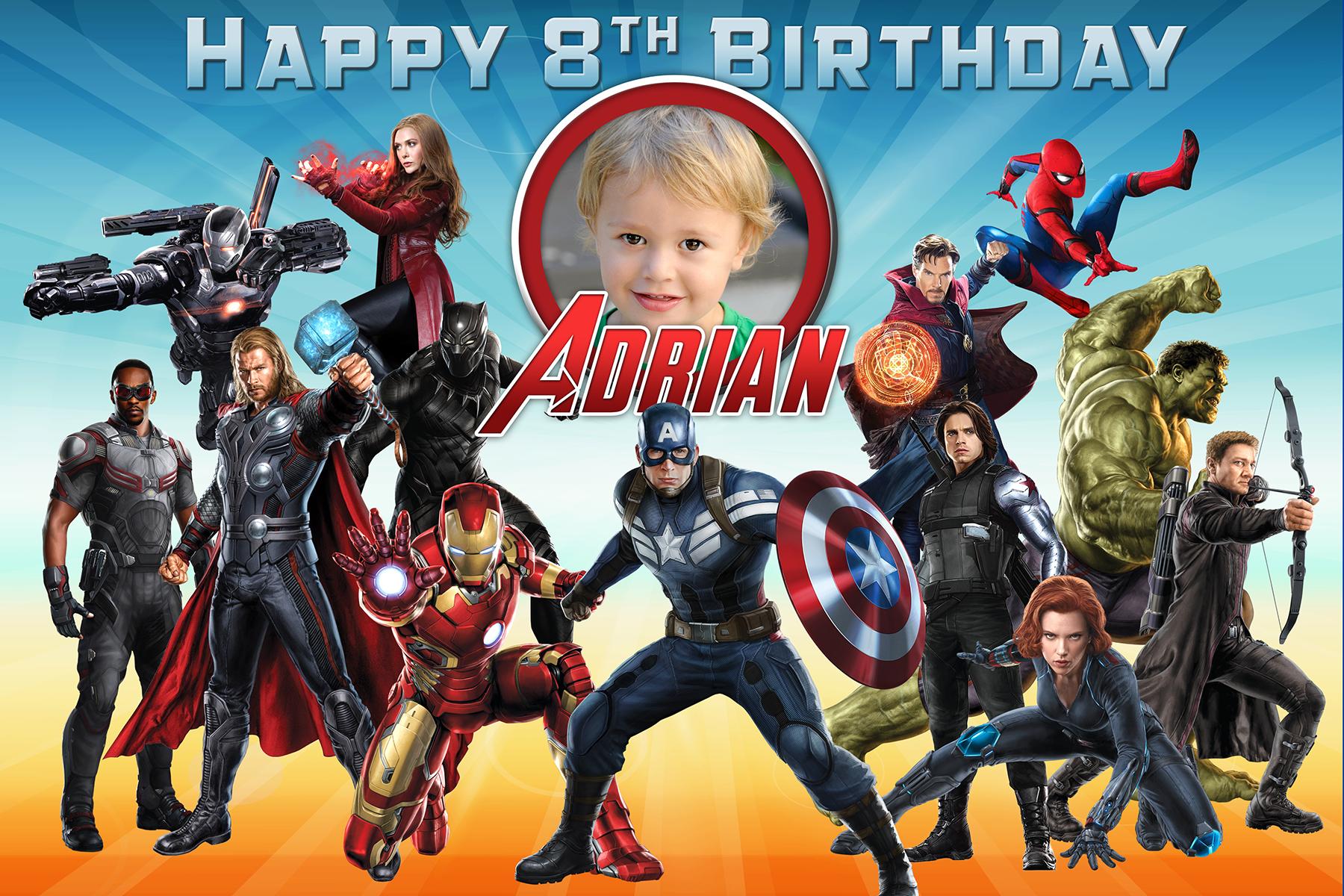 Free Avengers Birthday Tarpaulin Dioskouri Designs