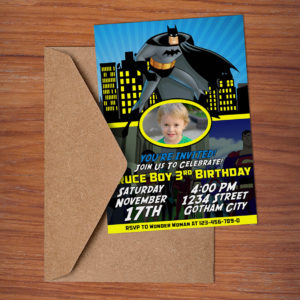 Free Batman Birthday Invitation Preview