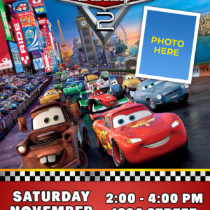 Free Cars Birthday Invitation - 4r