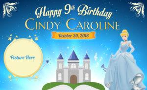 Free Cinderella Birthday Tarpaulin