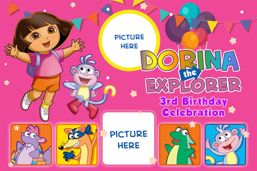 Dora the Explorer Birthday Tarp Dioskouri Designs