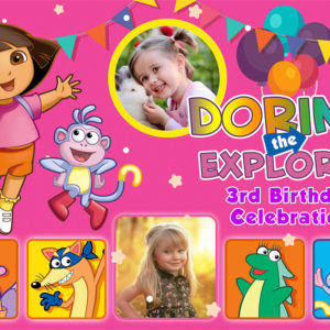 Free Dora Birthday Tarp Preview