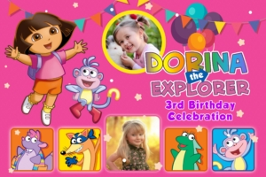 Free Dora Birthday Tarp Preview
