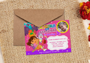 Free Dora the Explorer Birthday Invitation Output