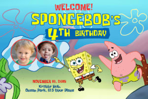 Free SpongeBob SquarePants Birthday Tarp Preview