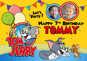 Free Tom and Jerry Birthday Tarp Preview