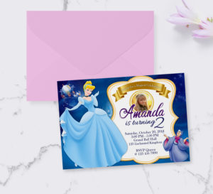 Free Cinderella Birthday Invitation Preview