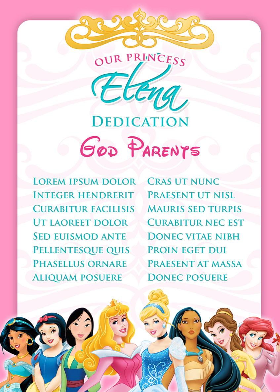 Disney Princess Invitation Dioskouri Designs