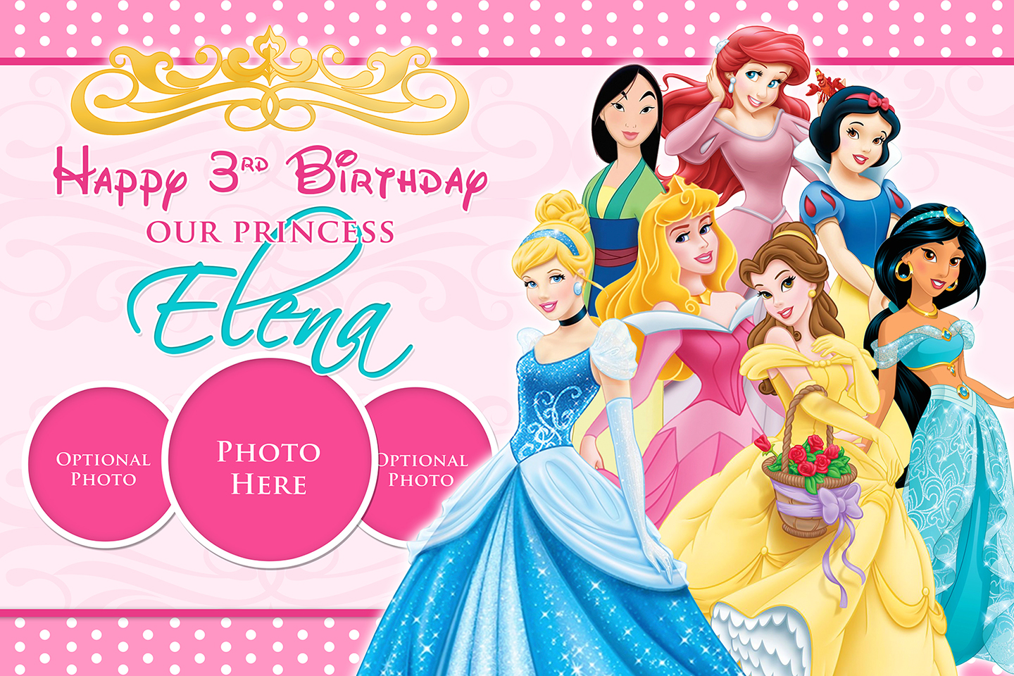 Disney Princesses Tarp | Dioskouri Designs