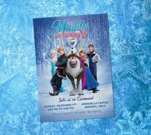 Free Frozen 5r Birthay Invitation Preview