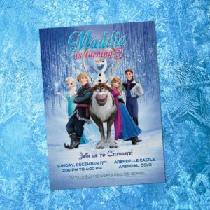 Free Frozen 5r Birthay Invitation Preview