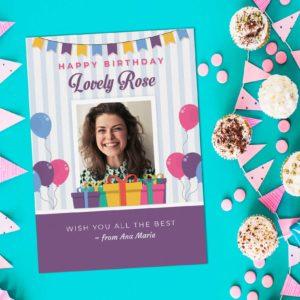 5r Birthday Greeting Card Design 2 Sample