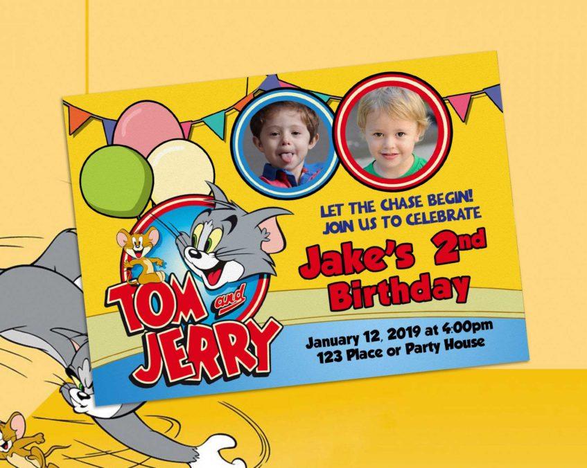 Tom And Jerry Birthday Invitation Dioskouri Designs