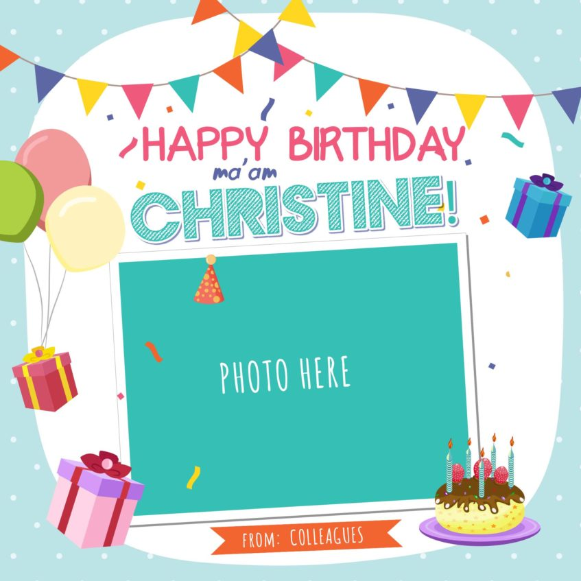 Online Birthday Greeting Design 1