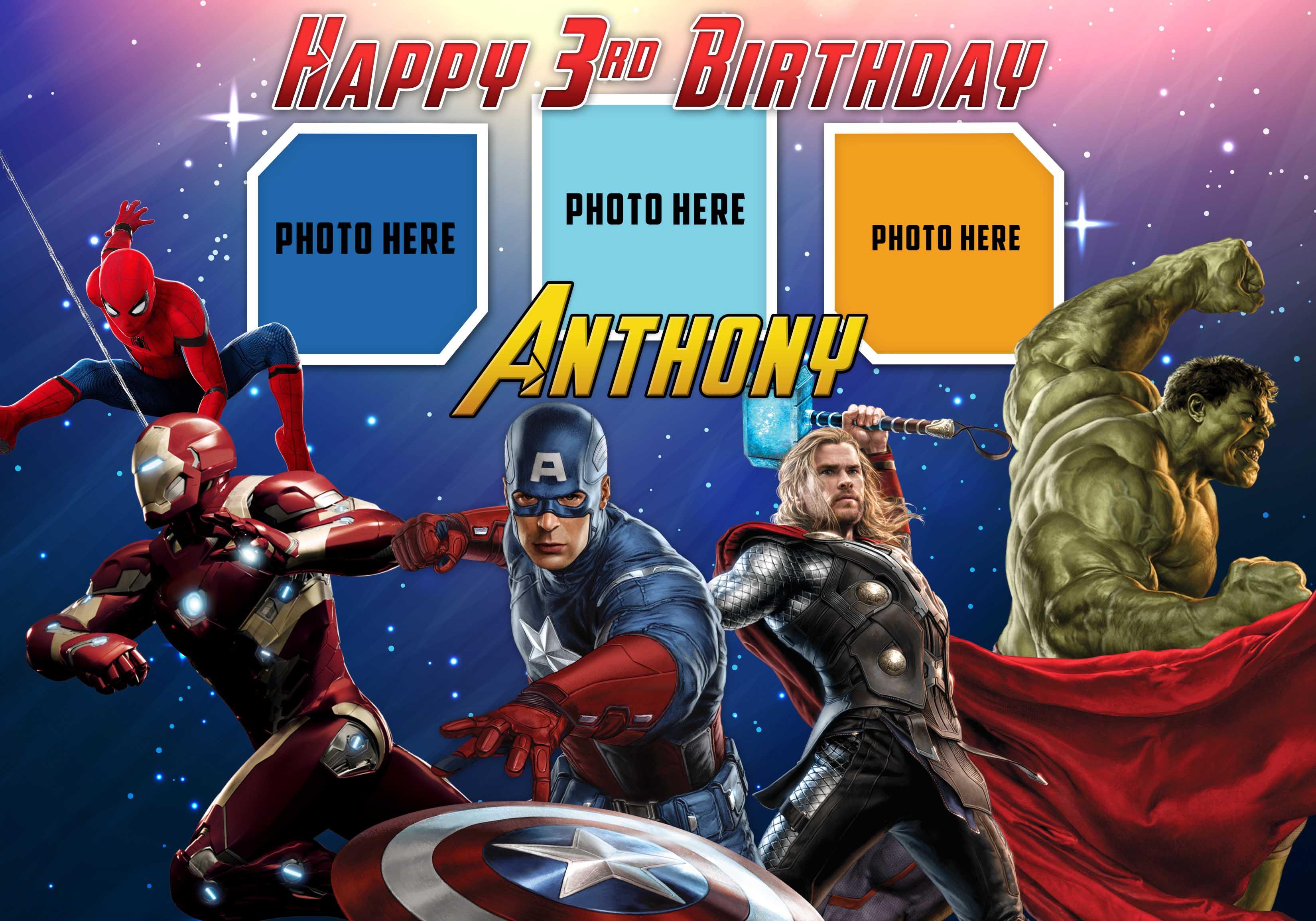 Avengers Birthday Tarpaulin Template Dioskouri Designs