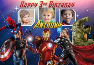 Avengers Birthday Tarp Template 2