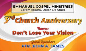Free Church Anniversary Tarp