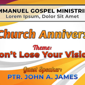 Free Church Anniversary Tarp