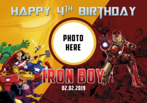Free Iron Man Birthday Tarp design 2