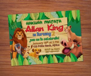 Free Lion King Birthday Invitation preview