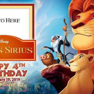 Free Lion King Birthday Tarp
