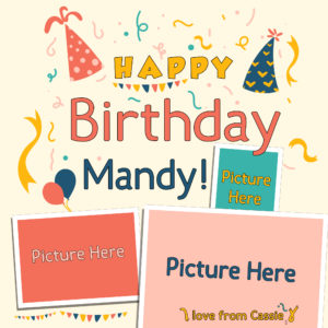 Free Online Birthday Greeting Design template