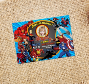 2019 Avengers Birthday Invitation Output Preview