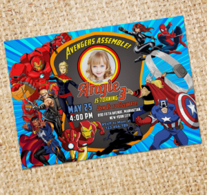 2019 Free Avengers Birthday Invitation Output Preview1