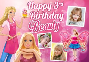 Free Barbie Birthday Christening Tarp