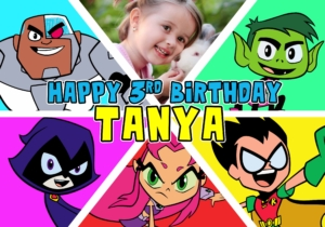 Free Teen Titans Go Birthday Tarp Preview 3