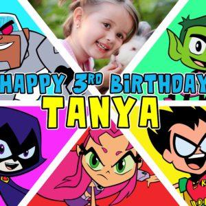 Free Teen Titans Go Birthday Tarp Preview 3