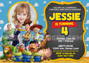 Free Toy Story Birthday Invitation Sample