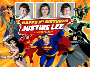 Free Justice League Birthday Tarpaulin Preview