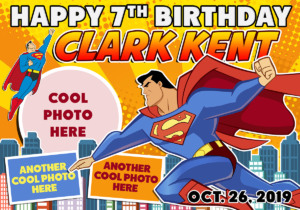 Free Justice League Superman Birthday Tarp