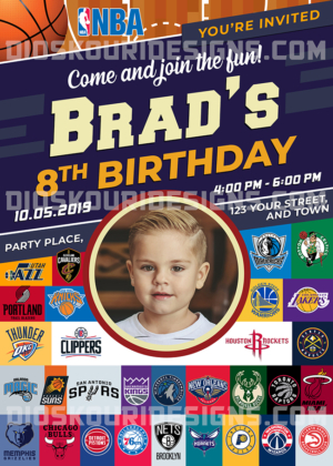 Free NBA 2019 Birthday Invitation Sample