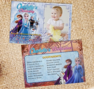 Free Frozen 2 Birthday Christening Dedication Invitation