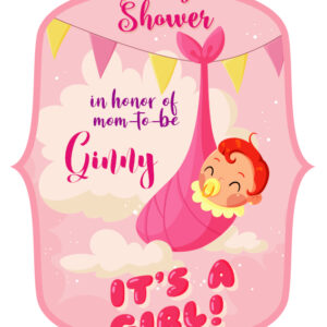 Free Its a girl cake topper
